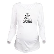Keep calm and kiss t Long Sleeve Maternity T-Shirt