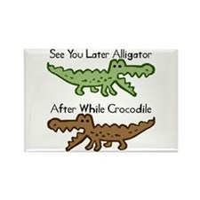 Alligator and Crocodile Rectangle Magnet (100 pack