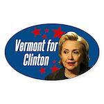 Vermont For Clinton Bumper Sticker