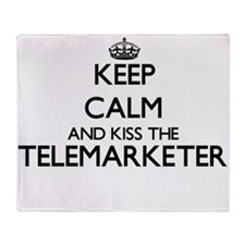 Keep calm and kiss the Telemarketer Throw Blanket