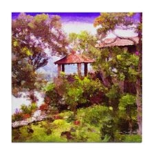 """Gazebo in Santiago"" Tile Coaster"