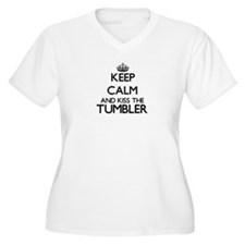 Keep calm and kiss the Tumbler Plus Size T-Shirt