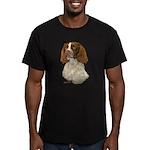 English Springer Spani Men's Fitted T-Shirt (dark)