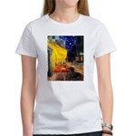 Cafe & Dachshund Women's T-Shirt