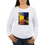 Cafe & Dachshund Women's Long Sleeve T-Shirt