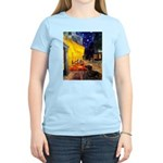 Cafe & Dachshund Women's Light T-Shirt