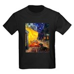 Cafe & Dachshund Kids Dark T-Shirt