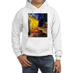 Cafe & Dachshund Hooded Sweatshirt
