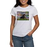 Lilies (2) & Dachshund Women's T-Shirt
