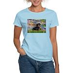 Lilies (2) & Dachshund Women's Light T-Shirt