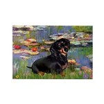 Lilies (2) & Dachshund Rectangle Magnet