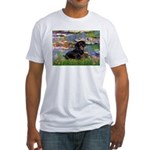 Lilies (2) & Dachshund Fitted T-Shirt
