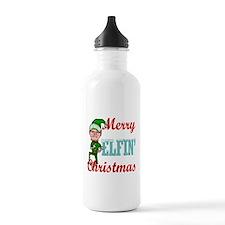 Funny Elfin Christmas Water Bottle
