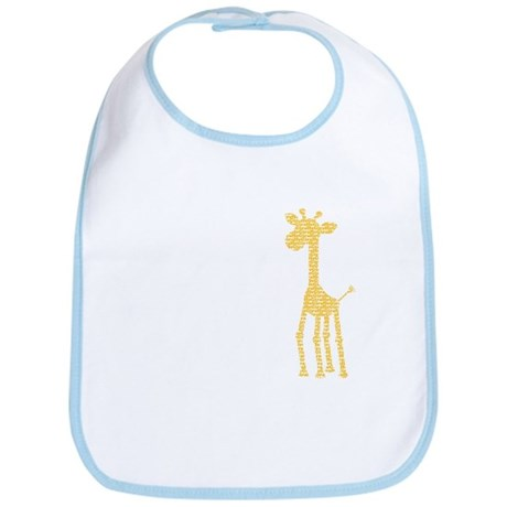 orange giraffe Bib