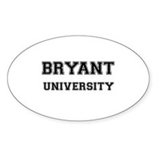 BRYANT UNIVERSITY Oval Decal