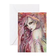 The Shy Flirt Fairy Art Greeting Cards