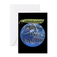 Cute Peas earth Greeting Card