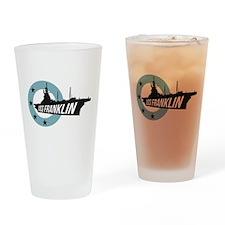 USS Franklin 4 Drinking Glass