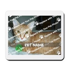 CUSTOMIZE Add Pet Photo and Name Mousepad