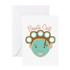 Beauty Costs Greeting Cards