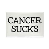 Cancer Sucks Rectangle Magnet