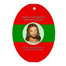 Season Hell Oval Ornament
