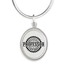 MSC: Professor Silver Oval Necklace