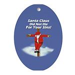 Santa Cross Oval Ornament