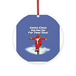 Santa Cross Ornament (Round)