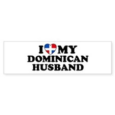 I Love My Dominican Husband Bumper Bumper Sticker
