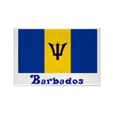 Barbados Flag Rectangle Magnet (100 pack)