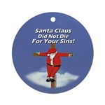 Santa Cross Ornament (Round)