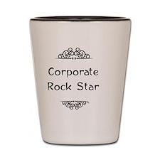 Corporate Rock Star Shot Glass
