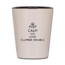 Keep calm and love Clumber Spaniels Shot Glass