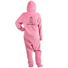 Keep calm and love Eurasiers Footed Pajamas