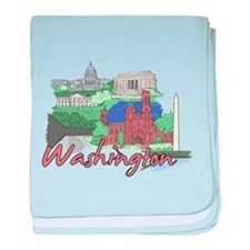 Funny Washington dc baby blanket