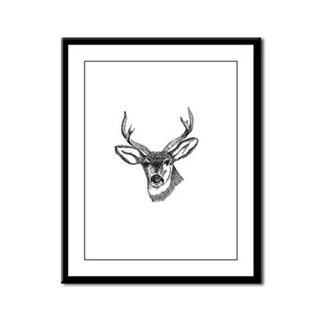 Whitetail Deer Framed Panel Print