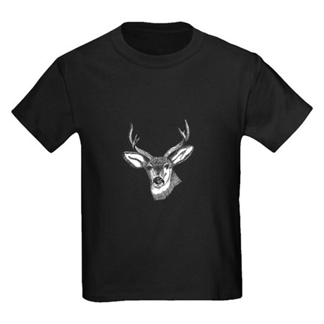 Whitetail Deer Kids Dark T-Shirt