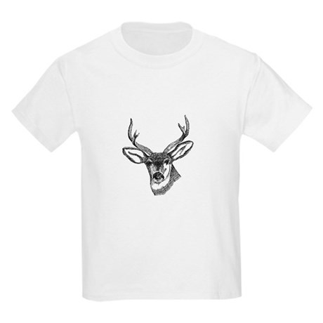 Whitetail Deer Kids Light T-Shirt