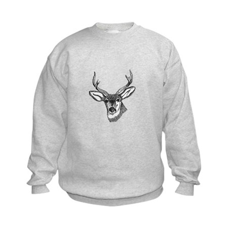 Whitetail Deer Kids Sweatshirt