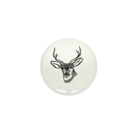 Whitetail Deer Mini Button