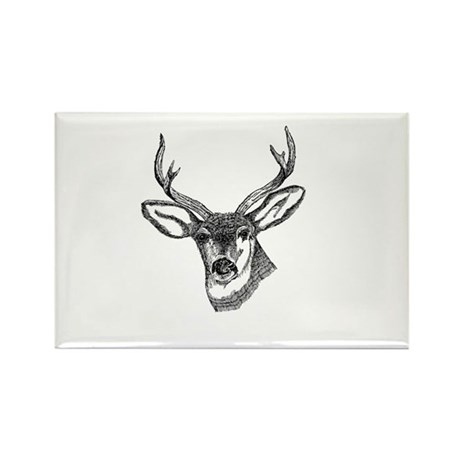 Whitetail Deer Rectangle Magnet (100 pack)