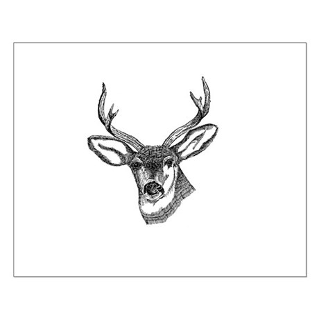 Whitetail Deer Small Poster