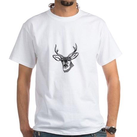 Whitetail Deer White T-Shirt