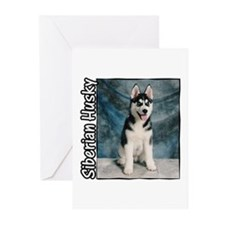 Siberian Husky Puppy Greeting Cards (Pk of 10)