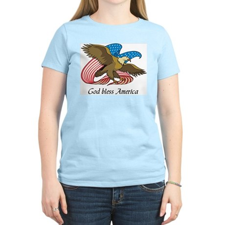 God Bless America Women's Light T-Shirt