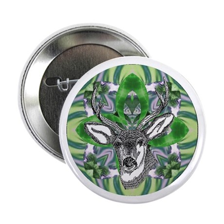 Kaliedoscope Deer 2.25&quot; Button (10 pack)