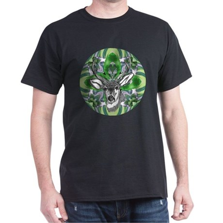 Kaliedoscope Deer Dark T-Shirt