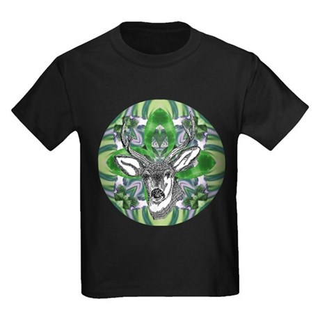 Kaliedoscope Deer Kids Dark T-Shirt