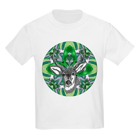 Kaliedoscope Deer Kids Light T-Shirt